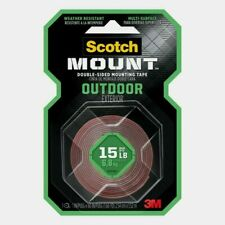 """3M Scotch OUTDOOR MOUNTING TAPE Double-Sided Holds 15 lbs 1"""" x 60"""" L 411H NEW"""