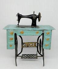 Vintage Antique Tin Singer Sewing Machine Dollhouse Miniature