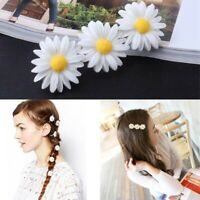 1Pcs Women Daisy Flower Hairpin Cute Flower Decor Hair Clip Elastic Hair Rope