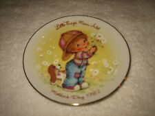 "Vtg 1982 Avon Mother'S Day Plate 22K Gold /Easel ""Little Things Mean Alot"" Plate"