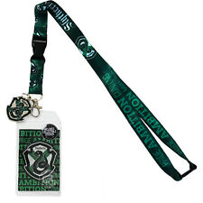 Harry Potter Slytherin Traits Lanyard Sticker ID Badge Holder Metal Charm Legit