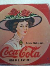 COLLECTIBLE COCA COLA COKE Candle Wax Wick Holder Soda Advertisement Home Decor