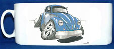 KOOLART - VW BEETLE 1300 MK1 - GLOSSY PHOTO MUG - BLUE