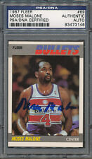 1987/88 Fleer #69 Moses Malone PSA/DNA Certified Authentic Auto Autograph *3146