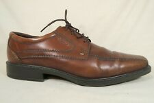 Ecco New Jersey Brown Leather Bicycle Toe Oxfords Shoes Mens 47 EU/US 13 - 13.5