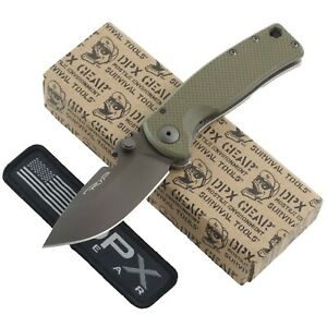 DPX Gear HEST Urban OD Green Framelock Pocket Knife G10 HSF060