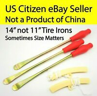 """Motorcycle Tire Iron Tyre Set Spoon Lever 14"""" 340mm 11"""" 280mm KTM 125 250 300 XC"""