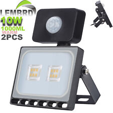 2X 10W LEMBRD LED Floodlight PIR Garden Lighting Outdoor Seucrity Lights Warm