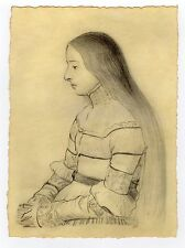 "Old Master Drawing after Hans HOLBEIN the Younger ""ANNA MEYER"""