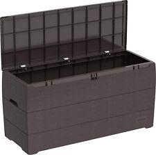 New Outdoor Storage Box Shed Wheels Heavy Duty Luxury Organise Garden Patio 270L