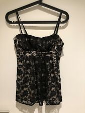 Forever New Lace Top with Detachable Spaghetti Straps (size 6) - New With Tags!