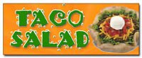 "24"" TACO SALAD DECAL sticker mexican food restaurant promotional marketing"