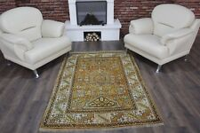 "Vintage Handmade Turkish Orange Oushak Area Rug 72""x49"""