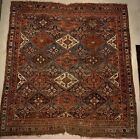 Antique Kazak Caucasian Rug - Circa Early 1900's - 58 X 51 Inches