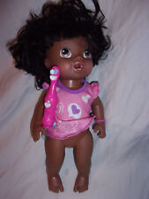 """Baby's Teeth Ethnic Baby Alive New Doll Retired 13"""" African American"""
