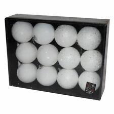 Confezione da 12 Perline & Strass Natale 80mm Bagattelle - Bianco