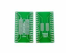 10PCS SOP28 SSOP28 TSSOP28 to DIP28 Converter Adapter PCB Pitch 0.65/1.27mm