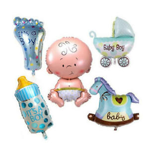 UNISEX 80CM BIG FOIL BALLOONS BABY SHOWER CHRISTENING BIRTHDAY OH BABY BALOONS