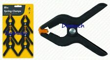 """6Pack 3"""" SPRING CLAMPS Holder Black Nylon-Market Stall Building Clip Table Cloth"""