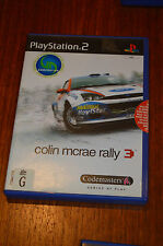 PS2, Colin McRae 3, good condition, complete, tested