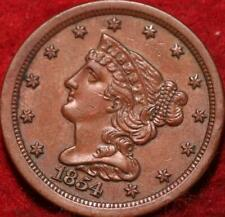 1854 Philadelphia Mint Copper Half Cent