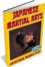ANCIENT JAPANESE MARTIAL ARTS 16 Books on DVD - JIU-JITSU,SAMURAI,SWORD,DEFENCE