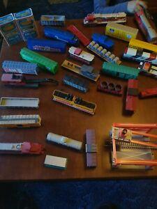 Tyco Train Set HO Scale hug lot of Pieces.