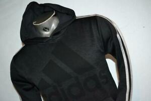 27299-a Boys Adidas Hoodie Athletic Pullover Size Large 14-16 Gray Polyester