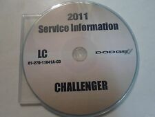 2011 DODGE CHALLENGER Service Shop Workshop Information Repair Manual CD New