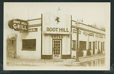KS Dodge City RPPC 1940's BOOT HILL GRILL & FOUNTAIN Cafe on Highway 50