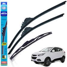 "Hyundai ix35 2010-on wiper blades alca SUPER FLAT 24""16"" + rear 12""C"