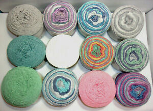 Yarnspirations Caron Cotton Cakes Yarn (Cotton-Acrylic) 8.8 oz, 12-Color Choices