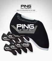 [PING] GOLF 2018 NEW PREMIUM IRON Club HEAD COVER(9pcs) Black Neoprene KOREA