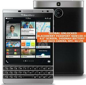 BLACKBERRY PASSPORT SILVER EDITION LTE SQW100-4 Rim Dallas 3gb 32gb Os 10 NFC 4g