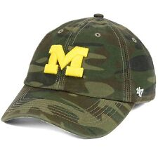 Michigan Wolverines '47 Brand L Harlan Franchise Camo Flexfit Fitted Cap Hat