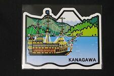 Japan Gotochi Postcard Kanagawa Series 3 Lake Ashi with Pirate Ship 2011