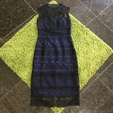 NWT $450 Karen Millen Graphic Lace Pencil Dress Size 8UK