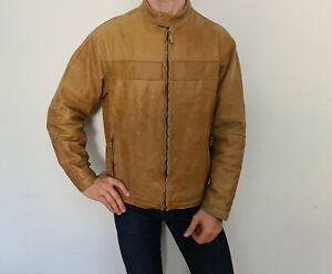 Strellson dicke Lederjacke Jacke Gr. 54 = XL TOP Vintage Braun Patina