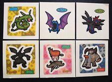 6 X Rayquaza Zekrom Textured Pokemon Stickers Decochara Japan Import RARE