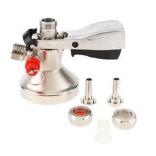 G System Keg Coupler Draft Beer Dispenser Beer Faucet Tap Stainless Steel