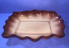 Vintage California Pottery??  Brown Tones with  Scalloped Edge Bowl / Dish