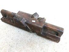 (n°161) OUTIL ANCIEN, old tool , RABOT XIXe  DE MENUISIER double fers