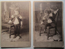 2 Different Antique Cabinet Photos - ID'd JAMES LATIMER - 5th Ave Pittsburgh PA