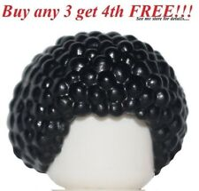☀️NEW Lego Minifig Hair Boy Male Female Girl Short Curly Black Afro Bubble Head