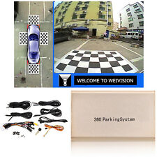 360° Cam Bird View Panoramic System 4 Camera Car DVR Recording Parking Rear View
