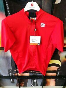 Sportful Strike Mens Summer Cycling Jersey Red Short Sleeve Medium
