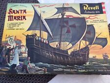 RARE VINTAGE REVELL SANTA MARIA COLUMBUS FLAGSHIP MODEL KIT 1964