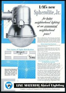 1949 Line Material LM streetlight street light photo vintage trade ad