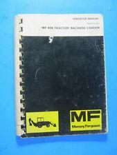 MASSEY FERGUSON MF 40B TRACTOR LOADER BACKHOE OPERATOR'S MANUAL OEM