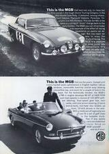 1964 MG British Motor Corporation PRINT AD Race version and Convertible detailed